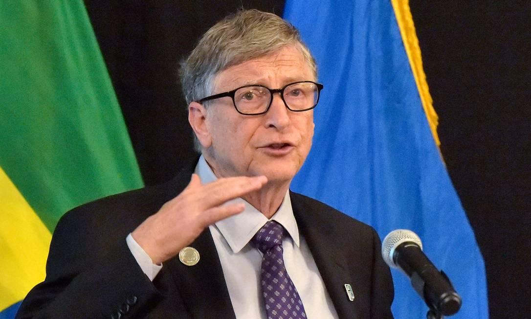 Bill Gates: impostos sobre ganhos de capital seriam a melhor opção para taxar grandes fortunas Foto: SIMON MAINA / AFP