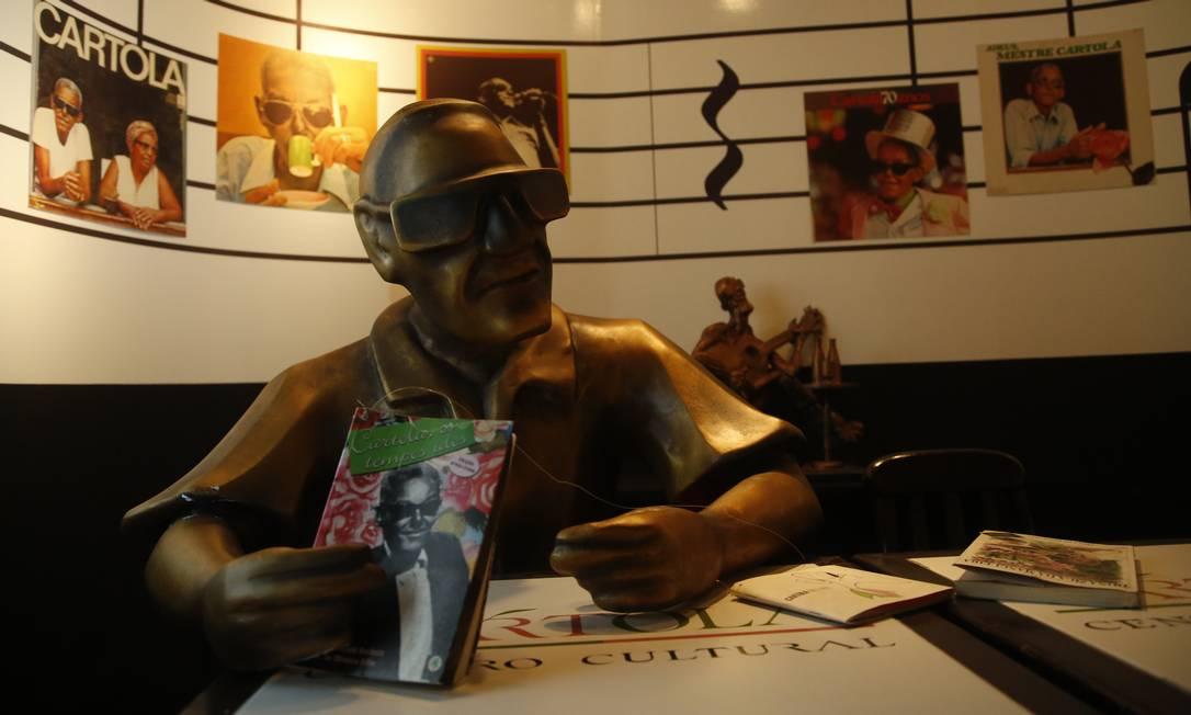 Museu do Samba presta homenagem a Cartola e outros grandes nomes do gênero Foto: Fábio Guimarães / Agência O Globo