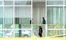 O presidente Jair Bolsonaro tem recebido ministros no Palácio da Alvorada Foto: Jorge William / Agência O Globo