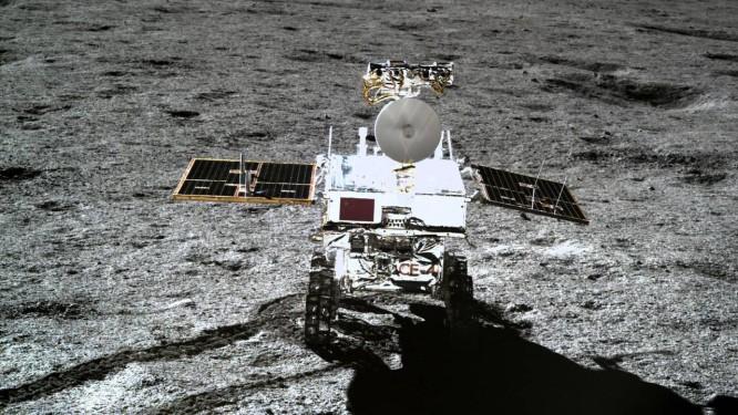 A sonda chinesa Chang'e-4 no lado oculto da Lua: projetos econômicos no espaço. Foto: - / AFP