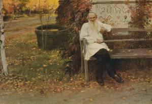 O escritor Leão Tolstói, aproximadamente 1909 Foto: Ivan Vladimirof / Getty Images