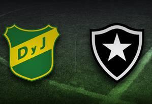 Defensa y Justicia e Botafogo duelam por vaga na próxima fase da Sul-Americana Foto: Editoria de Arte