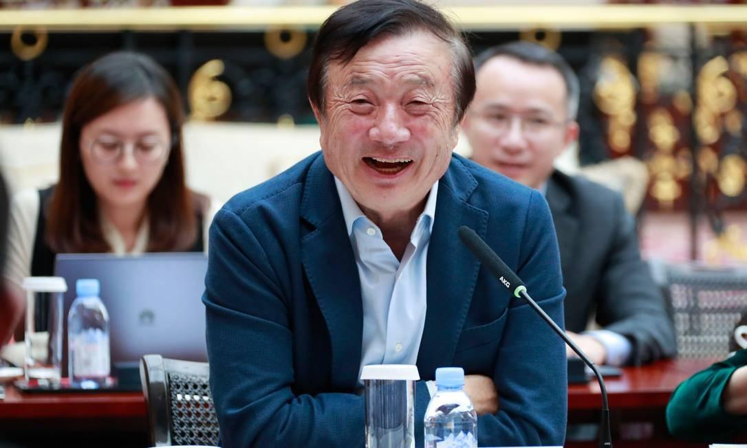 O fundador da Huawei, Ren Zhengfei, afirmou que a prisão da sua filha Meng Wanzho é política Foto: HANDOUT / AFP