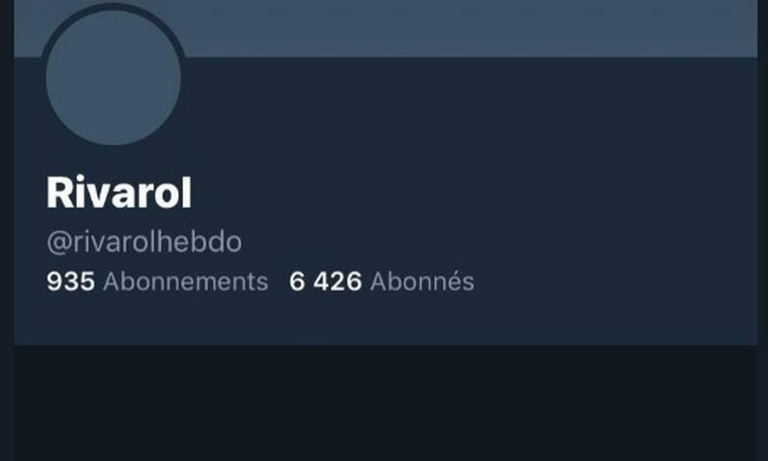 Revista Rivarol teve conta suspensa do Twitter após críticas a conteúdo antissemita Foto: Reprodução/Twitter