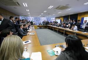 Reunião de líderes da Câmara Foto: Divulgação/Câmara