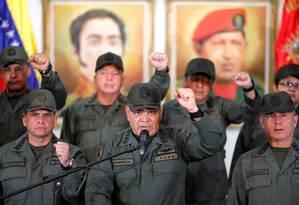 Ministro da Defesa da Venezuela, Vladimir Padrino reafirma lealdade a presidente Nicolás Maduro Foto: STRINGER / REUTERS
