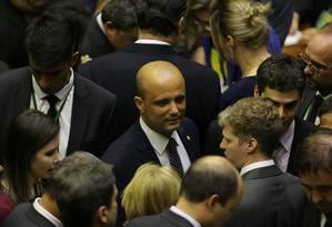 Major Vitor Hugo já enfrenta dificuldades no Congresso Foto: Jorge William/Agência O Globo/12-02-2019