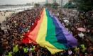 23ª Parada do Orgulho LGBTI no Rio, ano passado Foto: Brenno Carvalho / Agência O Globo/30-09-2018