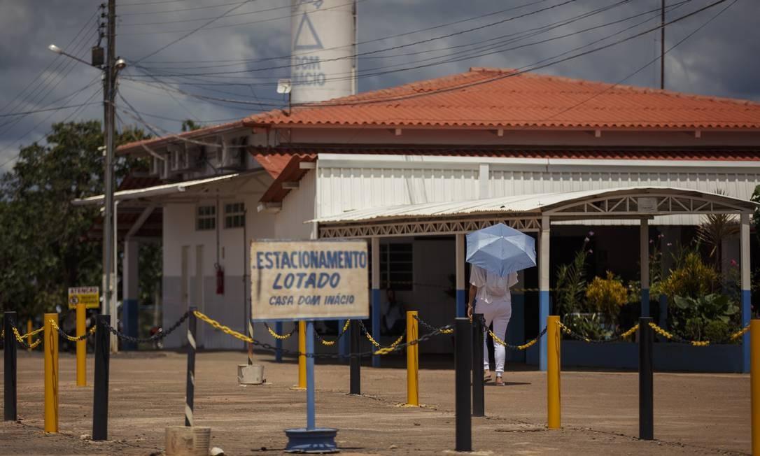 Vista da entrada da Casa Dom Inácio de Loyola, local de atendimento do médium João de Deus, em Abadiânia Foto: Daniel Marenco / Agência O Globo