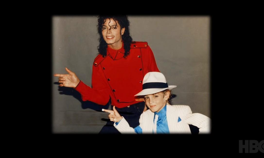 Cena do trailer de 'Leaving Neverland', documentário que acusa Michael Jackson de pedofilia Foto: Reprodução