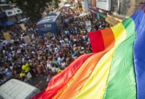 Parada LGBTI de Madureira, em 2018: debate sobre criminalização da homofobia mobiliza comunidade no Brasil Foto: Gabriel Monteiro / Agência O Globo