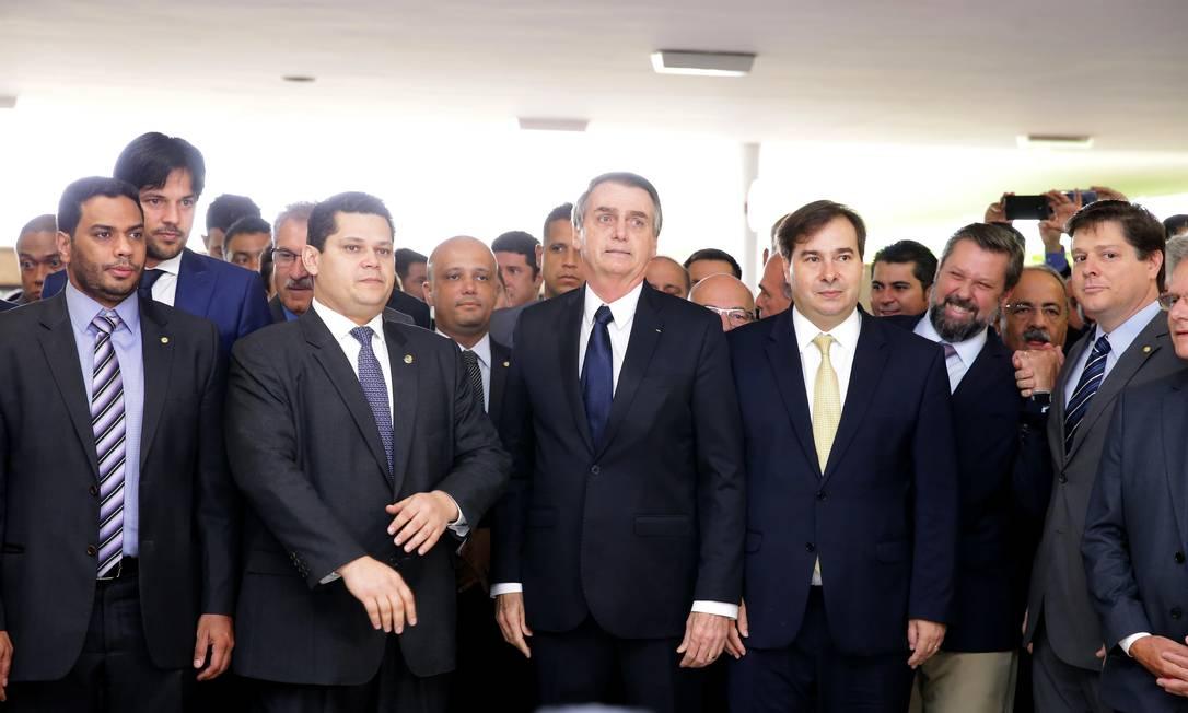 O presidente Jair Bolsonaro chega à Câmara para entregar a proposta de reforma da Previdência Foto: Divulgação/ Câmara