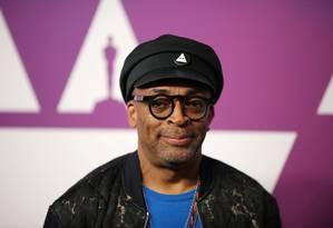 O cineasta Spike Lee no almoço especial para os indicados ao Oscar 2019 Foto: DAVID MCNEW / REUTERS