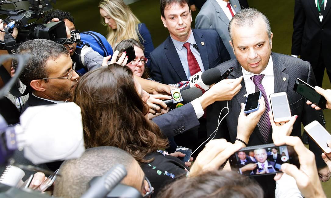 O secretário de Previdência e Trabalho, Rogério Marinho, durante entrevista na Câmra Foto: Divulgação/ Agência Câmara
