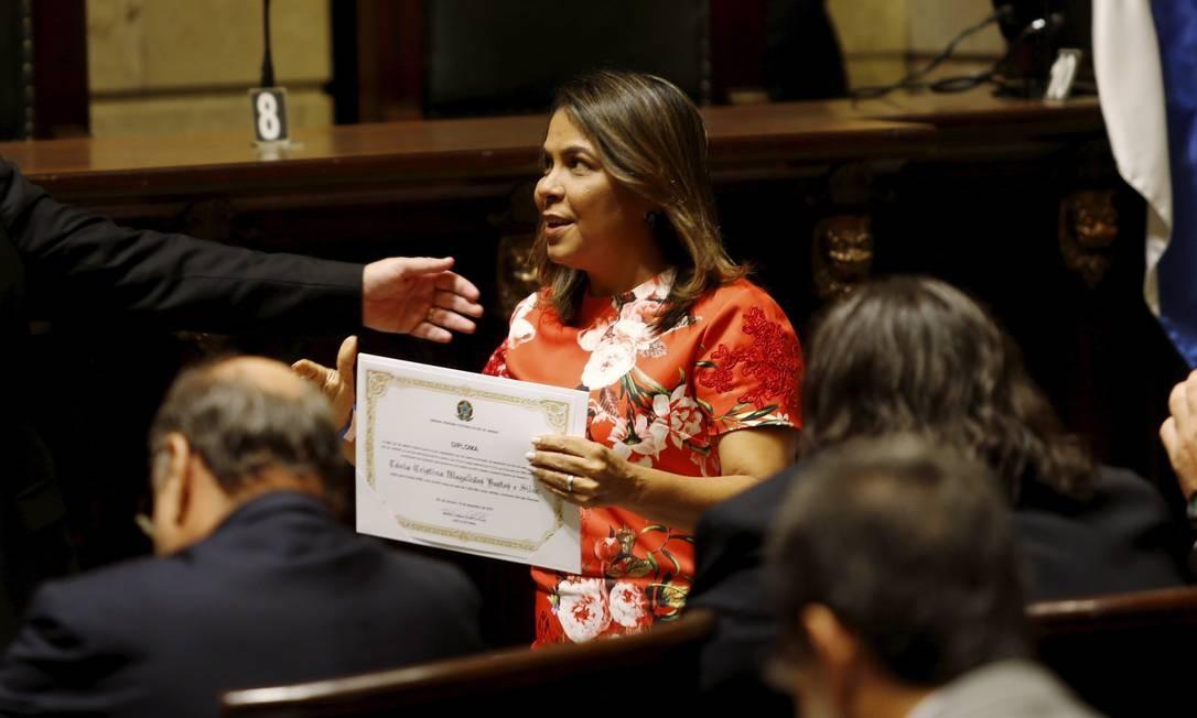Vereadora Tânia Bastos: seis emendas para tirar de projeto de lei qualquer menção à palavra 'gênero' Foto: Gabriel de Paiva / Agência O Globo