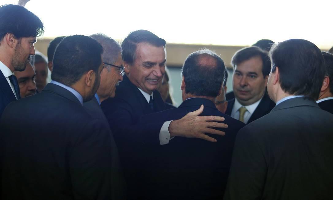 O presidente Jair Bolsonaro entregou a proposta de reforma da Previdência ao Congresso Foto: Jorge William / Agência O Globo