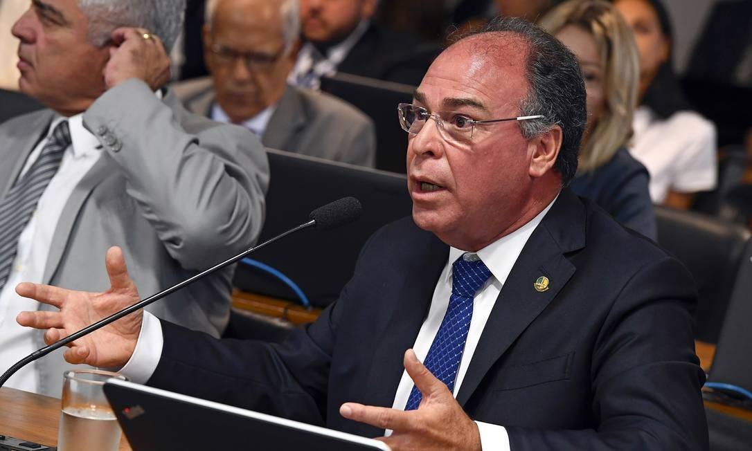 O senador Fernando Bezerra Coelho (MDB-PE), em comissão de Senado Foto: Marcos Oliveira/Agência Senado/19-02-2019
