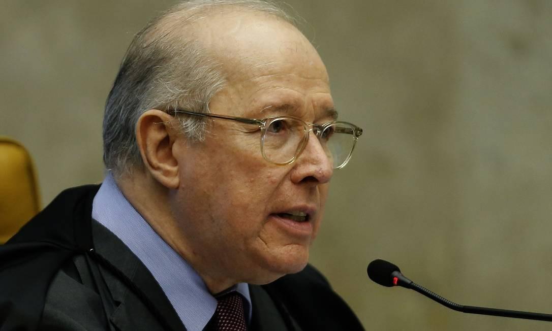 Ministro Celso de Mello é relator dos processos que pedem a criminalização da homofobia e a transfobia Foto: Jorge William / Agência O Globo