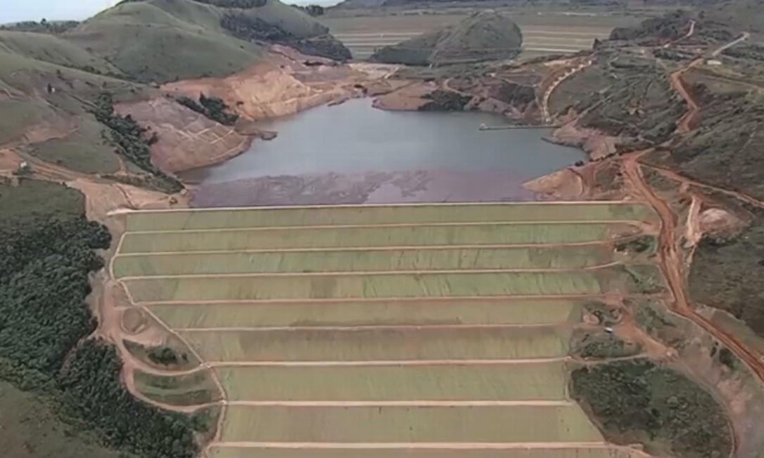 Barragem da Vale em Ouro Preto Foto: Reprodução/TV Globo