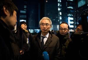 Junichiro Hironaka: conspiração levou Ghosn à prisão. Foto: BEHROUZ MEHRI / AFP