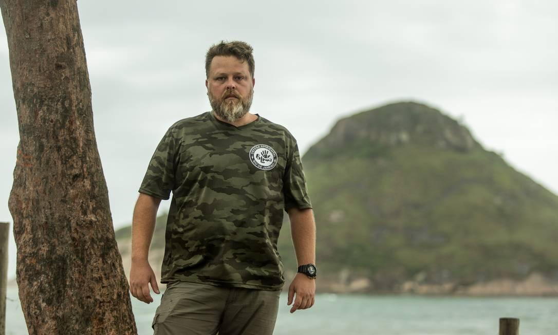 ONG Palma. Dos parques para a praia, Lincoln Tesch fala da preservação em locais de lazer Foto: Brenno Carvalho / Agência O Globo