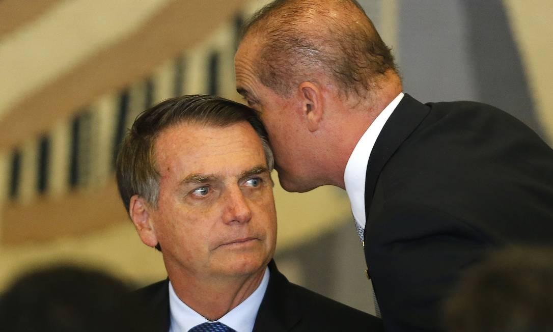 Presidente Jair Bolsonaro participa da cerimônia oficial de chegada do presidente da Argentina, Mauricio Macri. Foto: Jorge William 16/01/2019 / Agência O Globo