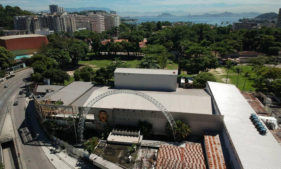 Prédio onde funcionava o Canecão, em Botafogo Foto: Pablo Jacob