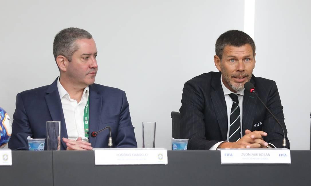 Boban durante reunião na CBF Foto: Lucas Figueiredo/CBF