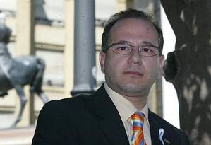 José Alcaraz é o primeiro senador do partido Vox na Espanha Foto: Reprodução/Twitter/vox_es