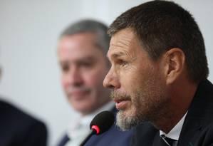 Zvonimir Boban, secretário-geral adjunto da Fifa, em encontro no Rio Foto: CBF/Divulgação