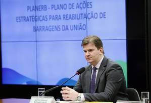 O ministro do Desenvolvimento Regional, Gustavo Canuto, durante audiência na Câmara Foto: Michel Jesus/Câmara dos Deputados