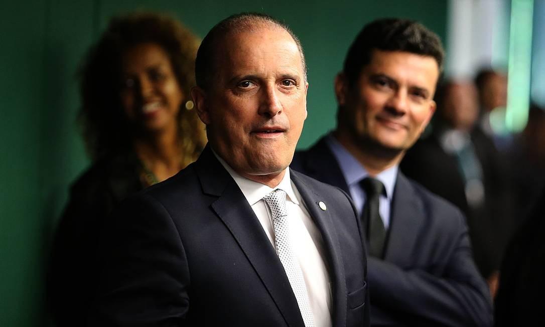 O ministros da Casa Civil, Onyx Lorenzoni, na Câmara dos Deputados Foto: Jorge William/Agência O Globo/19-02-2019
