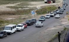 Fronteira do Brasil com Venezuela: Maduro anunciou o fechamento do lado venezuelano Foto: RICARDO MORAES / REUTERS