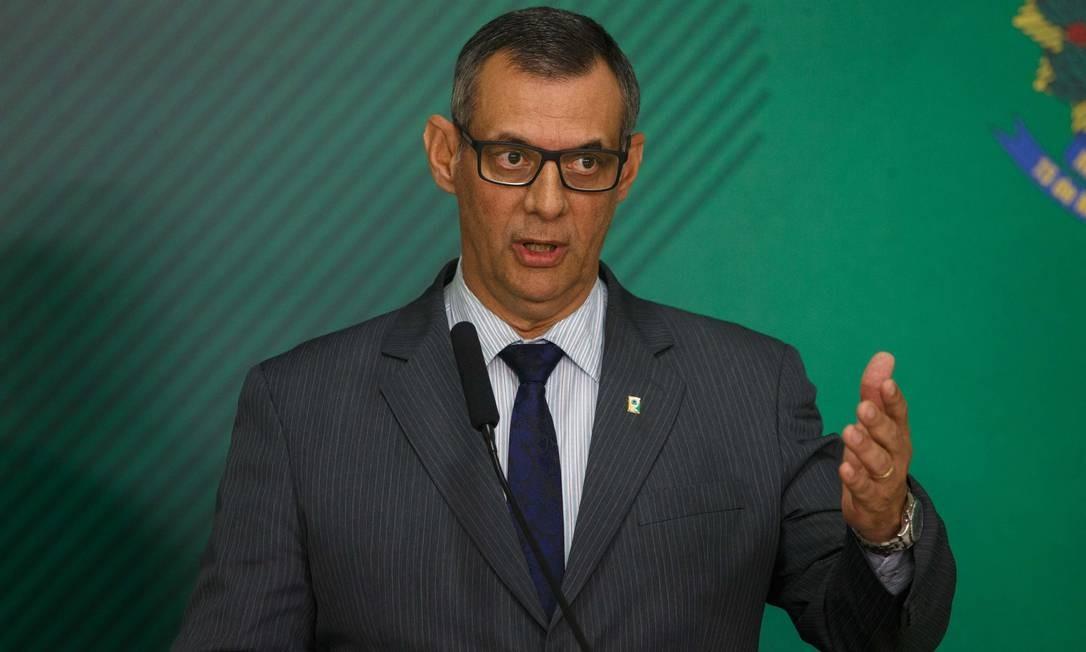 O porta-voz da Presidência, Otávio do Rêgo Barros, durante pronunciamento Foto: Daniel Marenco/Agência O Globo