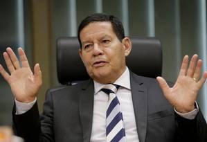 Mourão diz que Brasil seguirá defendendo solução pacífica para Venezuela Foto: Ueslei Marcelino / Reuters