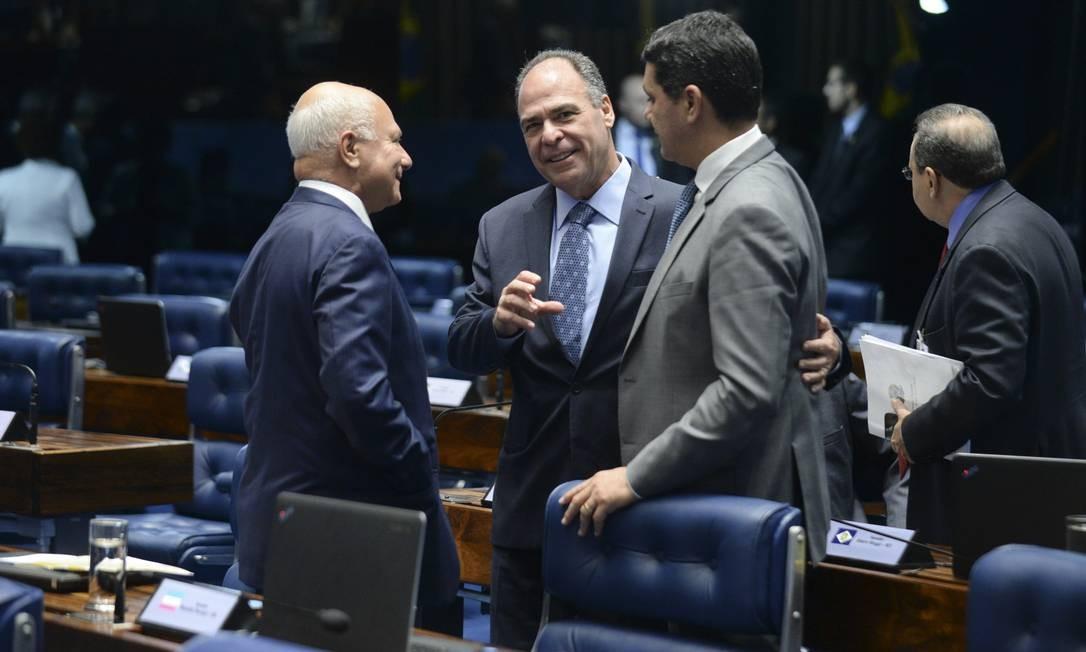 Plenário do Senado durante sessão deliberativa extraordinária que decidirá pela aprovação do impeachment da ex-presidente Dilma Rousseff Foto: Jefferson Rudy / Agência O Globo