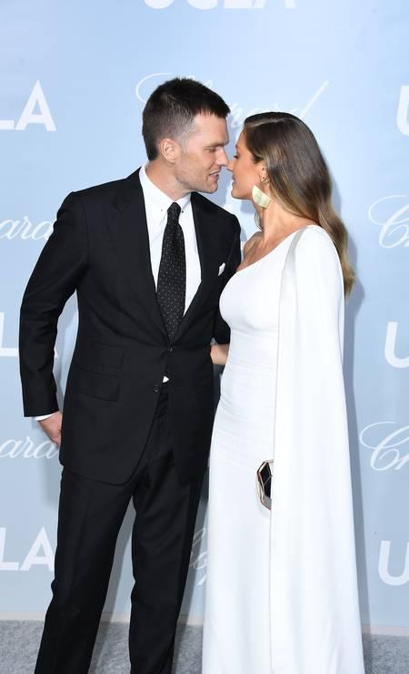 Tom Brady e Gisele Bündchen no Hollywood For Science Gala Foto: Steve Granitz / WireImage