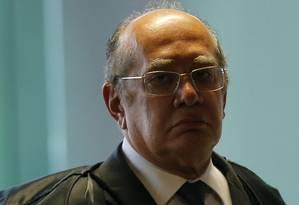 O ministro Gilmar Mendes, durante sessão do STF Foto: Jorge William/Agência O Globo/20-02-2019
