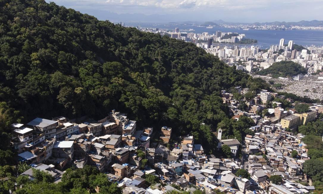 Desordem. Construções invadem mata na Ladeira dos Tabajaras Foto: brenno carvalho