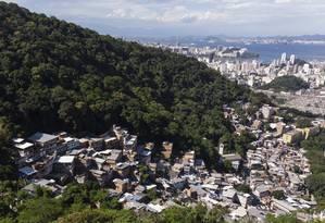 Vista aérea da Ladeira dos Tabajaras Foto: Brenno Carvalho