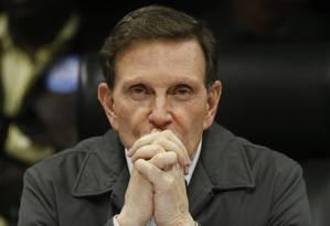 Crivella: de olho nos apoios para tentar a reeleição Foto: Antonio Scorza / Agência O GLOBO