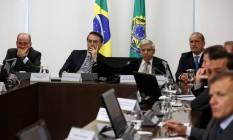 O presidente Jair Bolsonaro participa de reunião para discutir sitruação da Venezuela Foto: Marcos Corrêa/Presidência