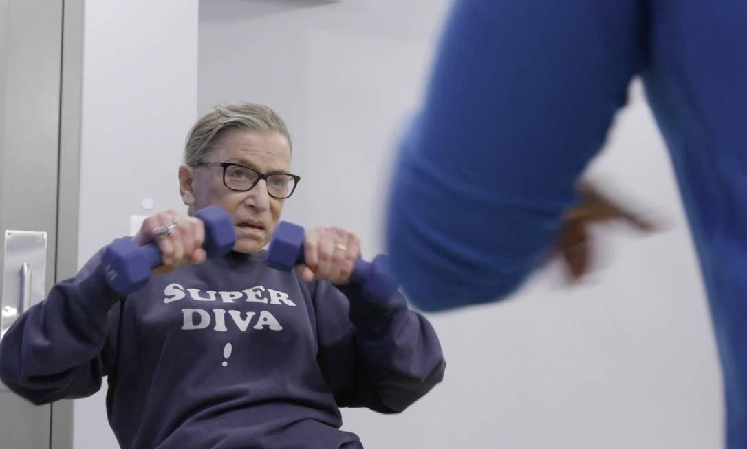 """Ruth Bader Ginsbyrg, juíza da Suprema Corte dos Estados Unidosmm retratada no documentário """"RBD"""" Foto: Divulgação / Agência O GLOBO"""