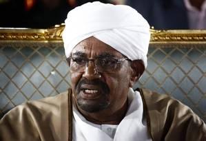 Presidente do Sudão, Omar al-Bashir, no palácio presidencial em Cartum Foto: ASHRAF SHAZLY / AFP