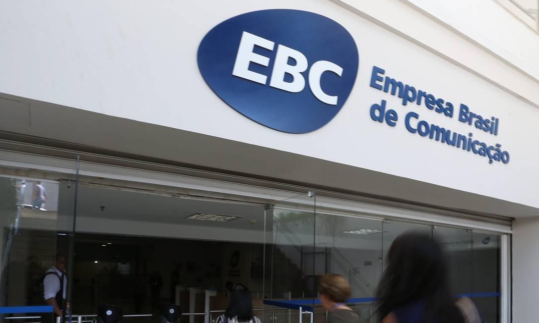 Fachada da entrada da Empresa Brasil de Comunicação Foto: Ailton de Freitas/Agência O Globo/14-08-2018