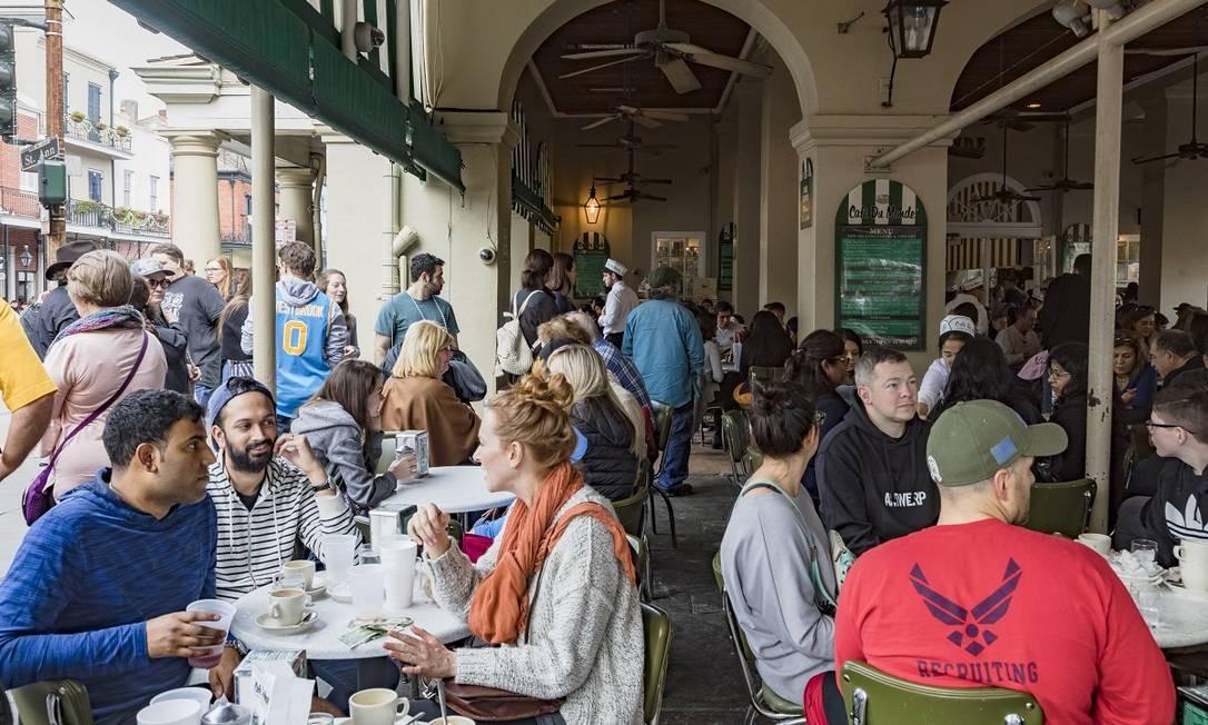 O Cafe Du Monde serve os beignets mais famosos de Nova Orleans Foto: Sara Essex Bradley / The New York Times