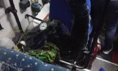 Caravana foi atacada durante travessia para a Colômbia Foto: Reprodução