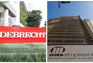Empreendimentos das construtoras Odebrecht e OAS Foto: Michel Filho/Reprodução / Agência O Globo/ Arquivo