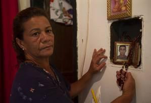 Tragédia de Brumadinho completa um mês e famílias vivem 'tragédia dentro da tragédia': Rosângela Maria Matos perdeu o filho de 33 anos Foto: Alexandre Cassiano / Agência O Globo