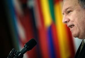 O secretário de Estado americano, Mike Pompeo Foto: AFP/Arquivos / Brendan Smialowski